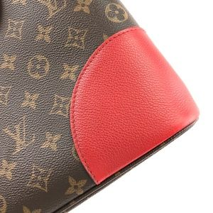 Louis Vuitton Bags - Flanderin Red Leather Coated Canvas Shoulder Bag